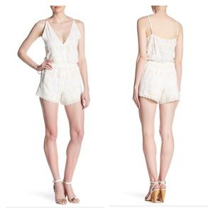 Gypsy 05 embroidered eyelet surplice neck romper